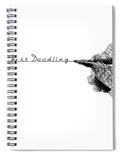 Spiral Notebook featuring the digital art Just Doodling by ISAW Company