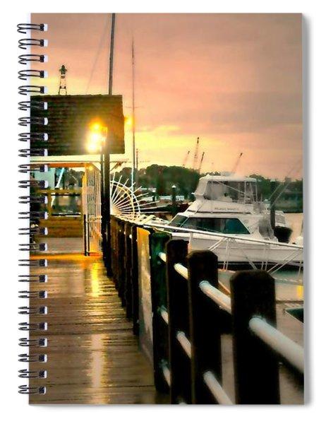 Silent Rain Spiral Notebook