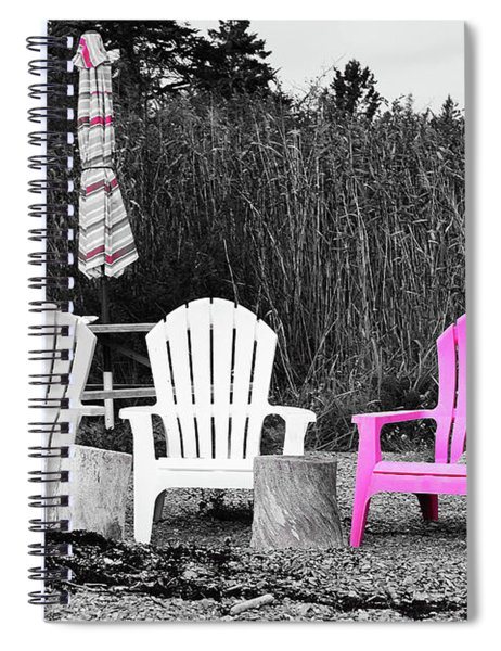 Spiral Notebook featuring the photograph Just The Pink by Patti Whitten