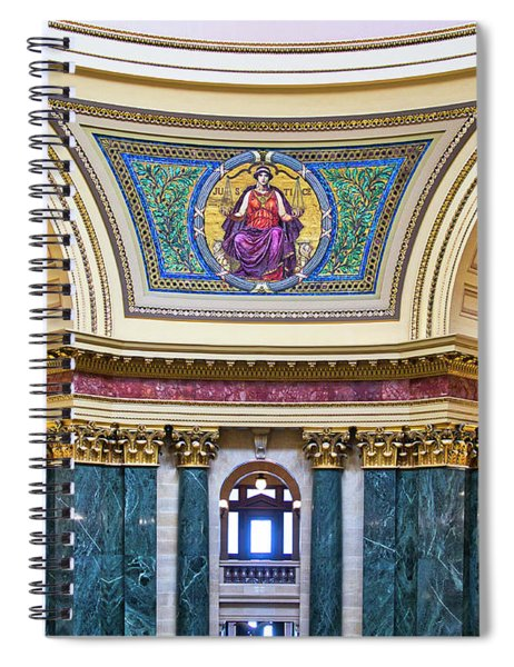 Justice Mural - Capitol - Madison - Wisconsin Spiral Notebook