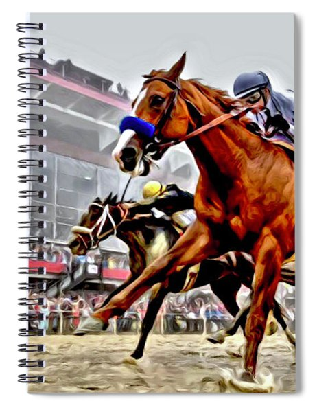 Justify Wins Preakness Spiral Notebook