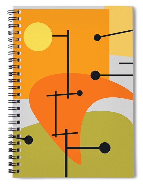 Juxtaposing Thoughts Spiral Notebook
