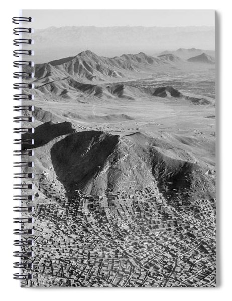 Kabul Mountainous Urban Sprawl Spiral Notebook