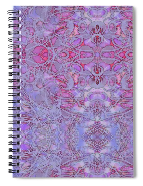 Kaleid Abstract Halo Spiral Notebook