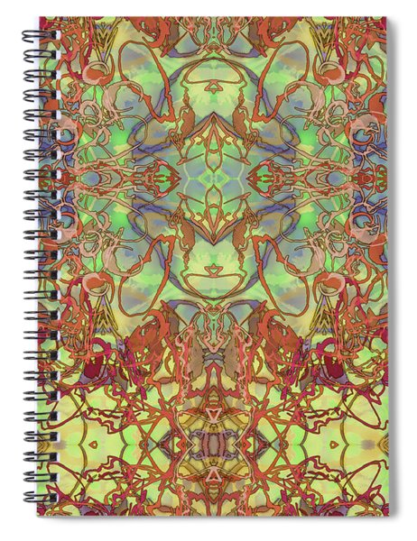 Kaleid Abstract Tapestry Spiral Notebook