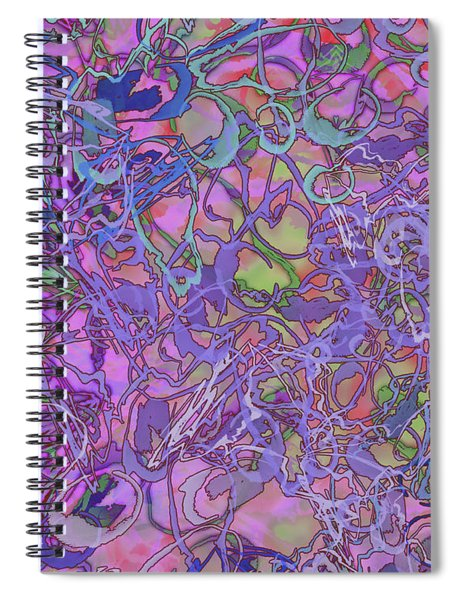 Kaleid Abstract Trip Spiral Notebook