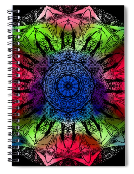 Kaleidoscope - Warm And Cool Colors Spiral Notebook