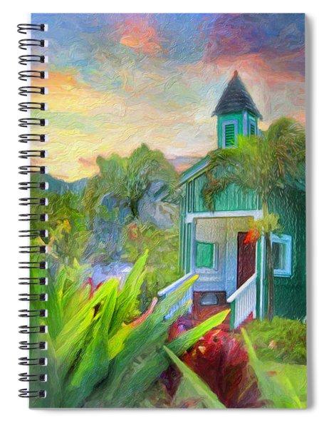 Kamalamalama O Keao At Sacred Falls Spiral Notebook