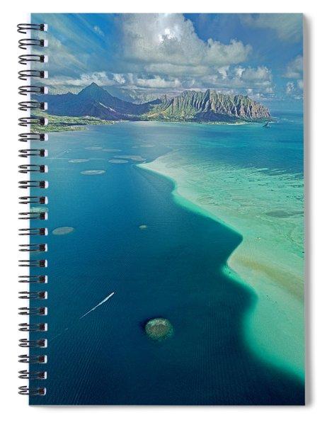 Kaneohe Sandbar Vertical Spiral Notebook
