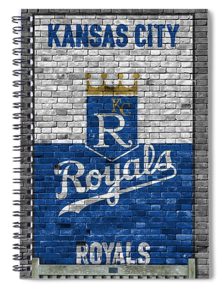 Kansas City Royals Brick Wall Spiral Notebook