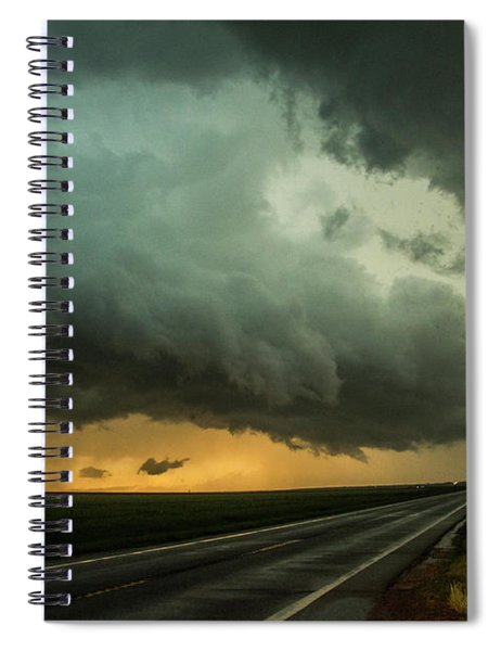Spiral Notebook featuring the photograph Kansas Storm Chase Bust Day 004 by NebraskaSC