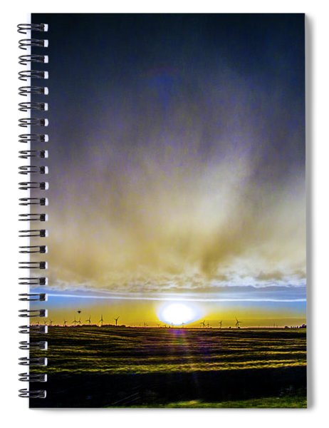 Spiral Notebook featuring the photograph Kansas Storm Chase Bust Day 005 by NebraskaSC