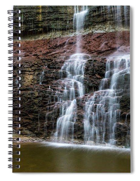 Kansas Waterfall 3 Spiral Notebook
