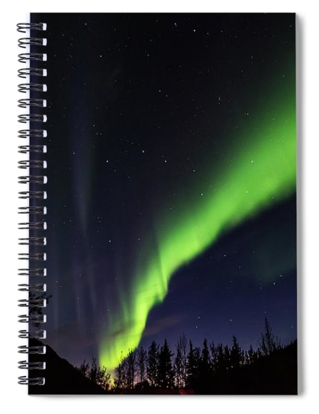 Kantishna Northern Lights In Denali National Park Spiral Notebook