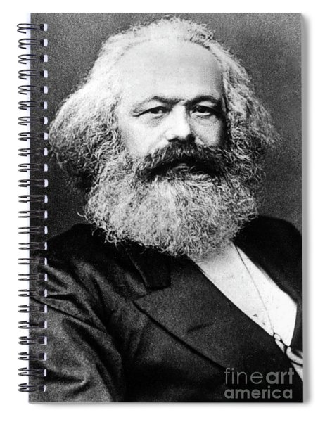 Karl Marx  German Politician Economist And Philosopher One Of The Authors Of Communist Pa Spiral Notebook