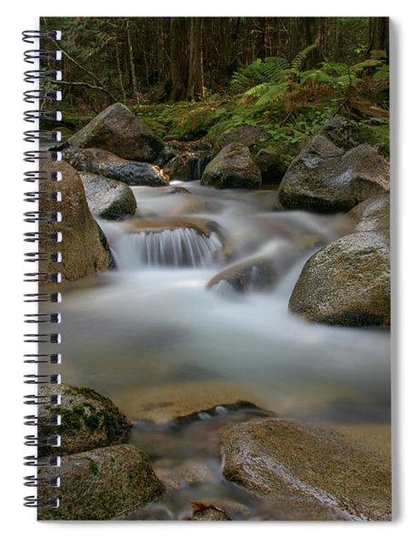 Katahdin Stream Cascades Spiral Notebook