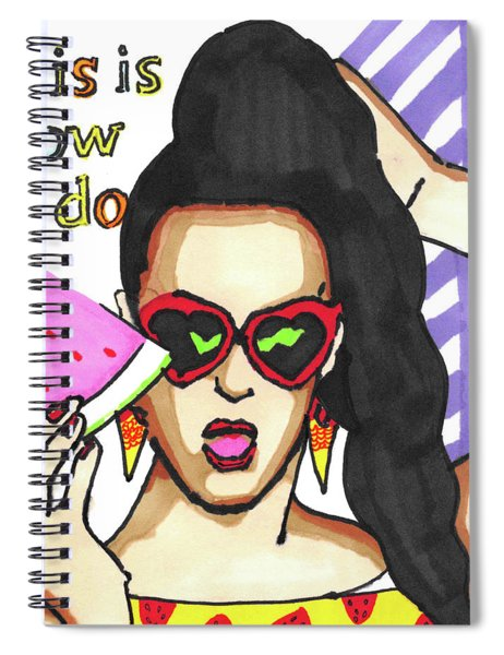 Katy Perry Pop Art Painting Spiral Notebook