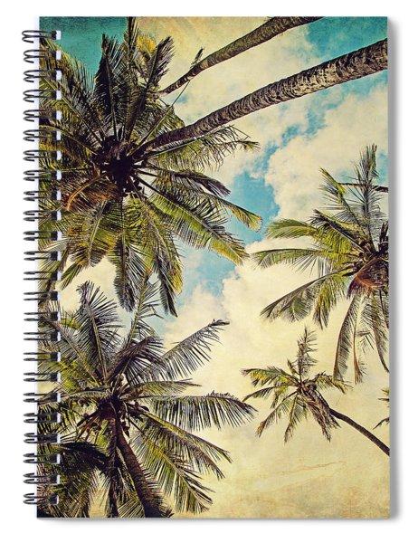 Kauai Island Palms - Blue Hawaii Photography Spiral Notebook