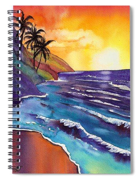 Kauai Na Pali Sunset Spiral Notebook