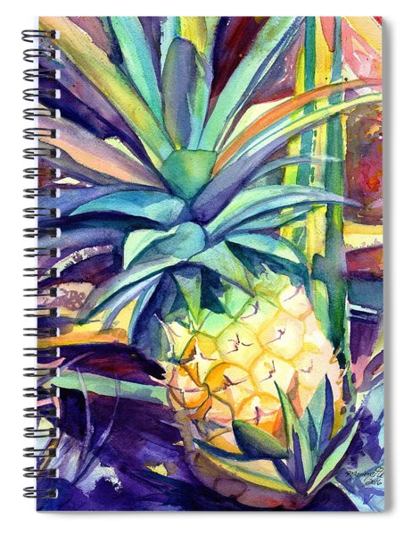 Kauai Pineapple 4 Spiral Notebook
