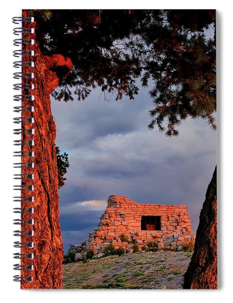 Kawanis Cabin Sunset, Albuquerque, New Mexico Spiral Notebook