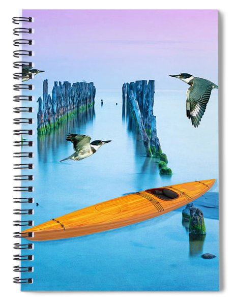 Kayak And Kingfishers Spiral Notebook