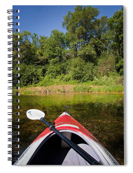Kayak On A Forested Lake Spiral Notebook
