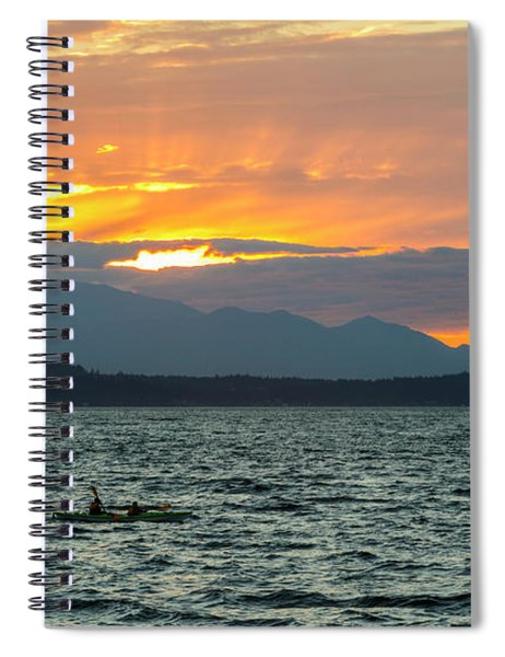 Kayaking In The Puget Sound Spiral Notebook