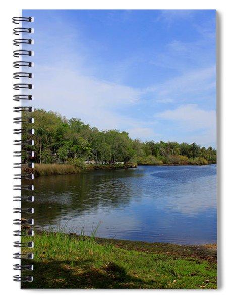 Kayaking The Cotee River Spiral Notebook