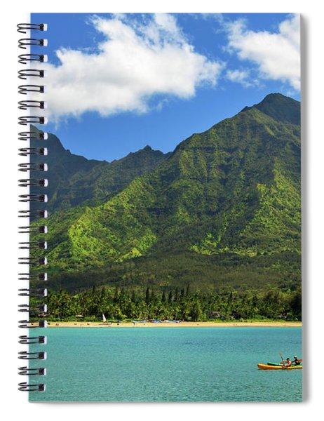 Kayaks In Hanalei Bay Spiral Notebook