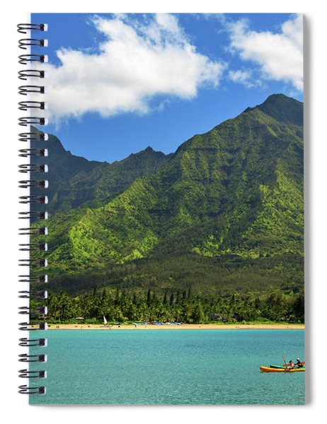 Kayaks In Hanalei Bay Spiral Notebook