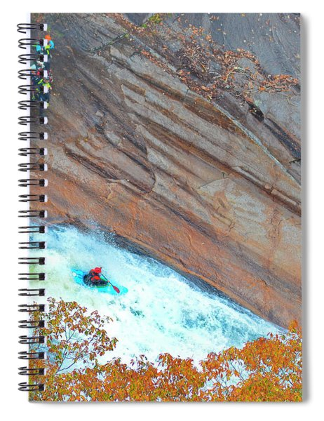 Kayaking The Gorge Spiral Notebook