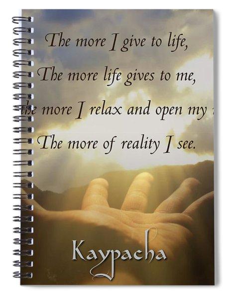 Kaypacha - July 25, 2018 Spiral Notebook