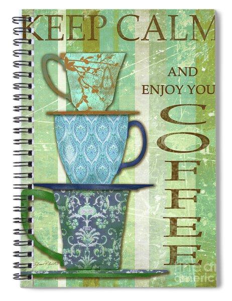 Keep Calm Coffee Spiral Notebook