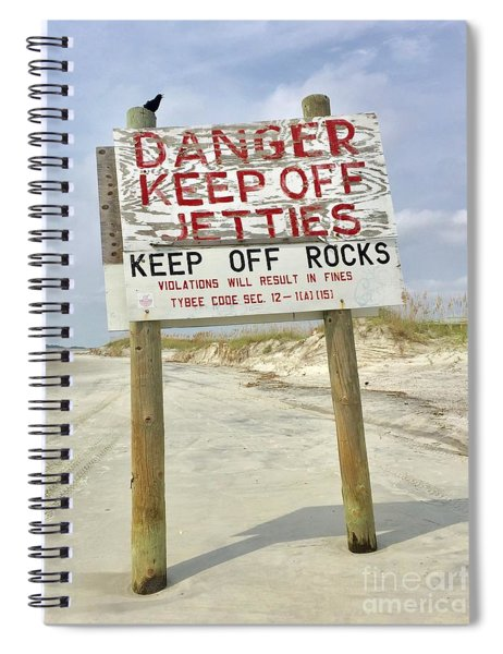 Keep Off Jetties Spiral Notebook