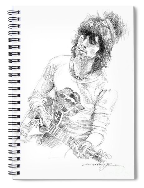 Keith Richards Exile Spiral Notebook