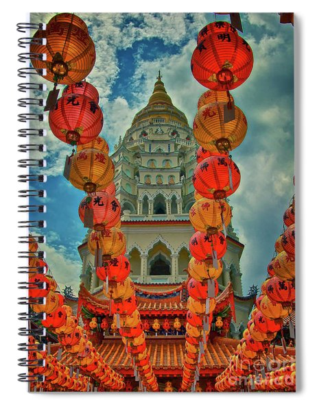 Kek Lok Si Buddhist Temple In Penang, Malaysia Spiral Notebook