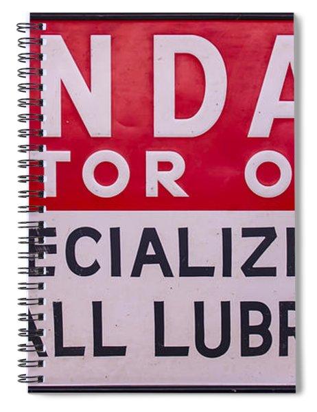 Kendall Motor Oils Sign Spiral Notebook