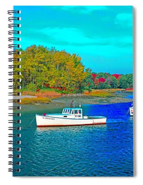 Kennebunkport, Maine, Lobster Boats Spiral Notebook