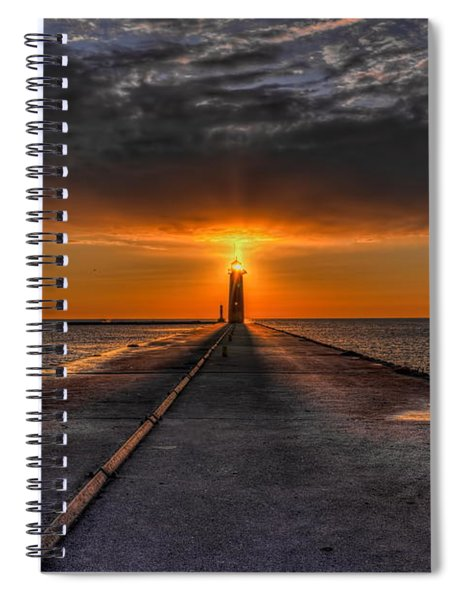 Kenosha Lighthouse Beacon Spiral Notebook