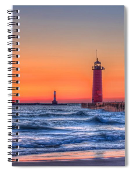 Kenosha Lighthouse Dawn Spiral Notebook