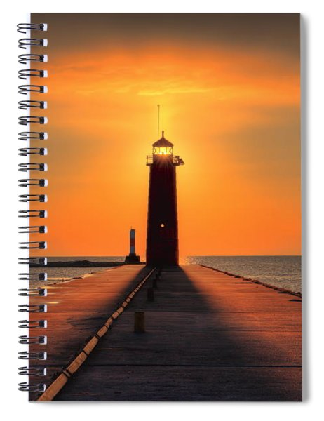Kenosha Lighthouse Shining Light Spiral Notebook