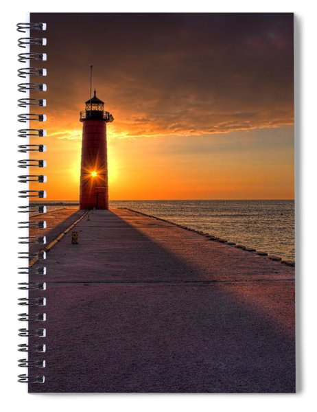 Kenosha Lighthouse Sunrise Spiral Notebook