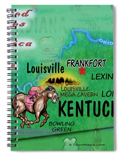 Kentucky Fun Map Spiral Notebook