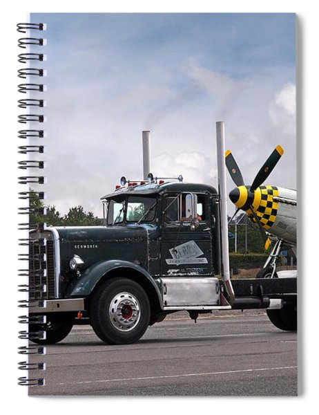 Kenworth Hauling P-51 Spiral Notebook