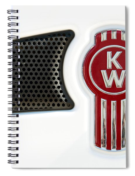 Kenworth Tractor White Spiral Notebook