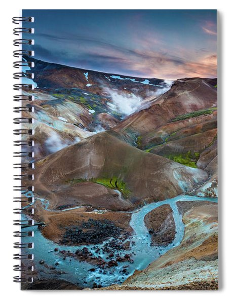 Kerlingarfjoll Twilight Spiral Notebook by Inge Johnsson