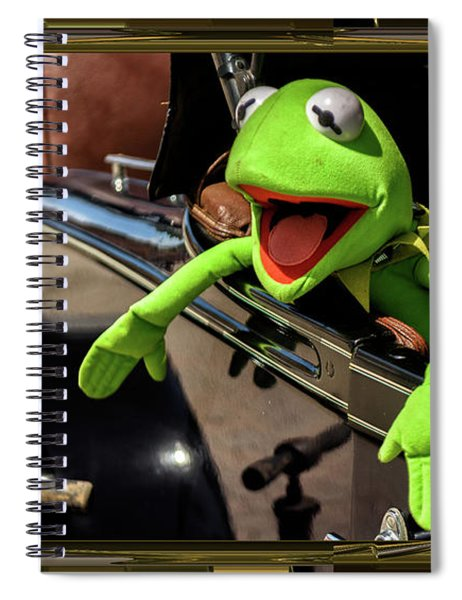 Kermit In Model T Spiral Notebook