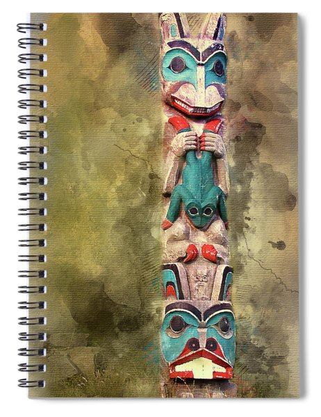 Ketchikan Alaska Totem Pole Spiral Notebook
