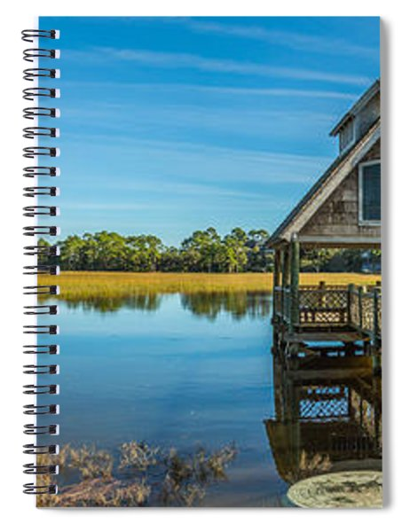 Kiawah Island Boathouse Panoramic Spiral Notebook